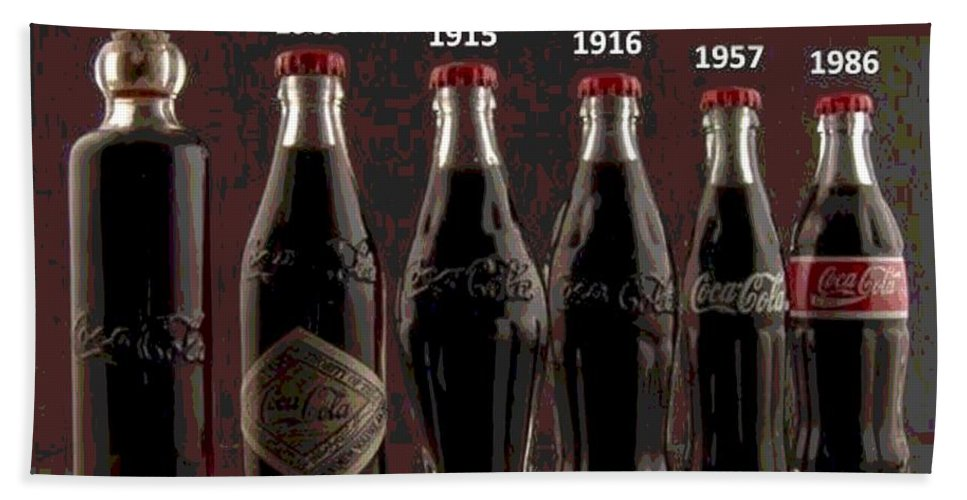Coke Bath Sheet featuring the photograph Coke Through Time by George Pedro