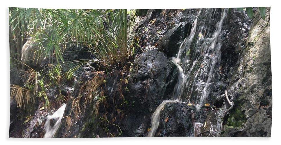 Coki Beach Bath Sheet featuring the photograph Coki Waterfall by Gina Sullivan