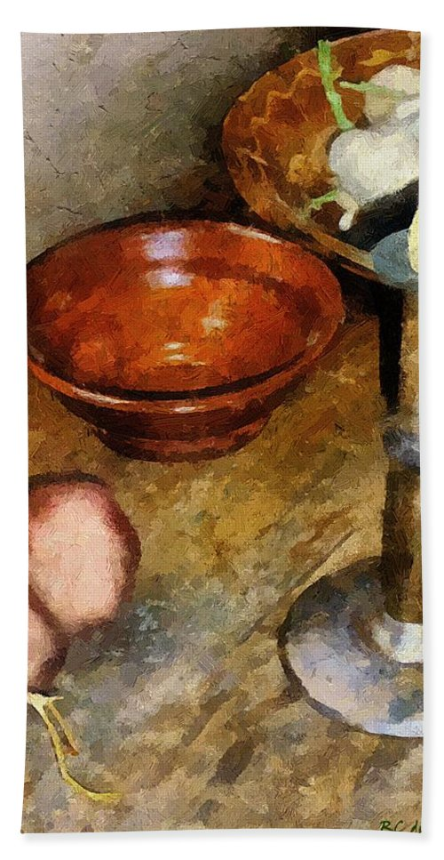 Still Life Hand Towel featuring the painting Cold Comfort Kitchen by RC DeWinter