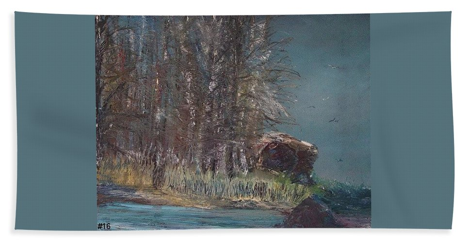 Sky Hand Towel featuring the painting Cold Flight by Jack Diamond