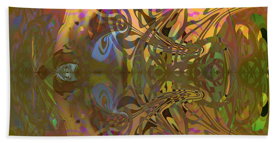 Abstract Bath Sheet featuring the digital art Cold light of day by Grant Wilson