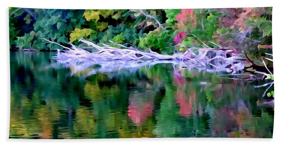 Digital Bath Sheet featuring the photograph Cold Spring Harbor Reflections by Ed Weidman