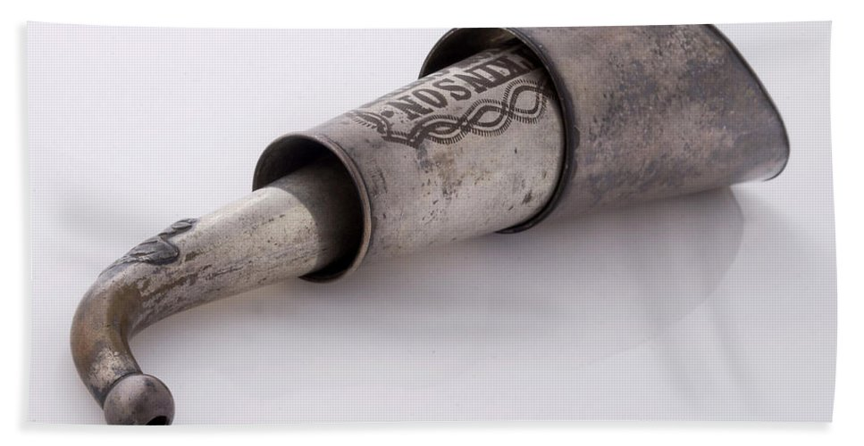 Historic Hand Towel featuring the photograph Collapsible Victorian Ear Trumpet, 1800s by Wellcome Images