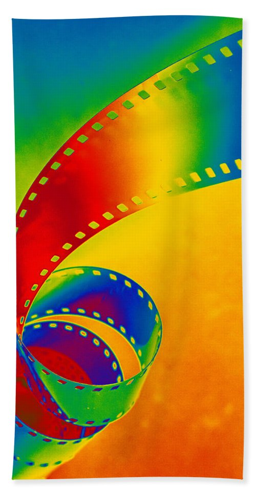 Color Bath Sheet featuring the photograph Color 35mm Strip by Lonnie Paulson