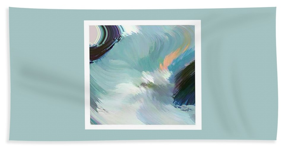 Landscape Digital Art Hand Towel featuring the digital art Color Falls by Anil Nene