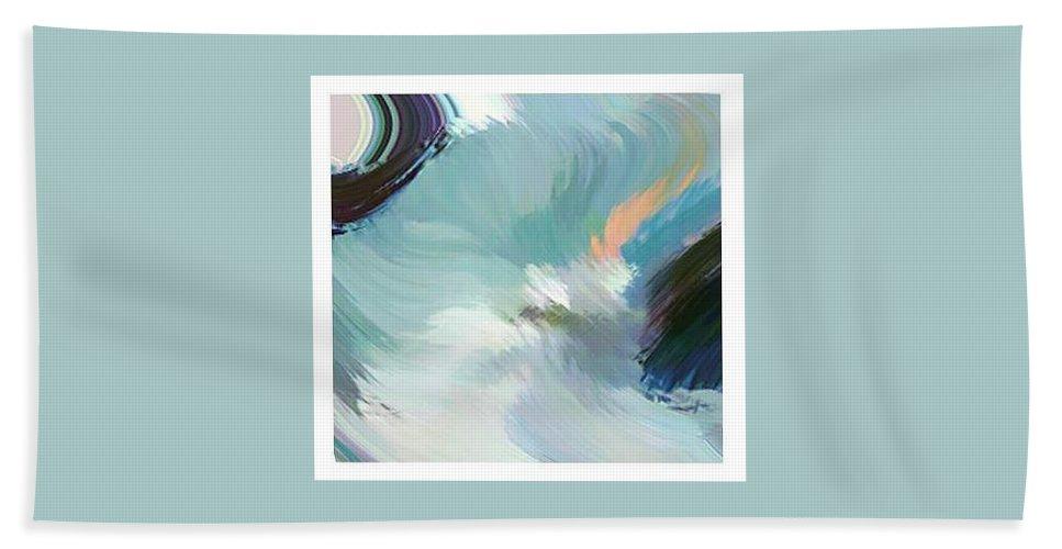 Landscape Digital Art Bath Towel featuring the digital art Color Falls by Anil Nene