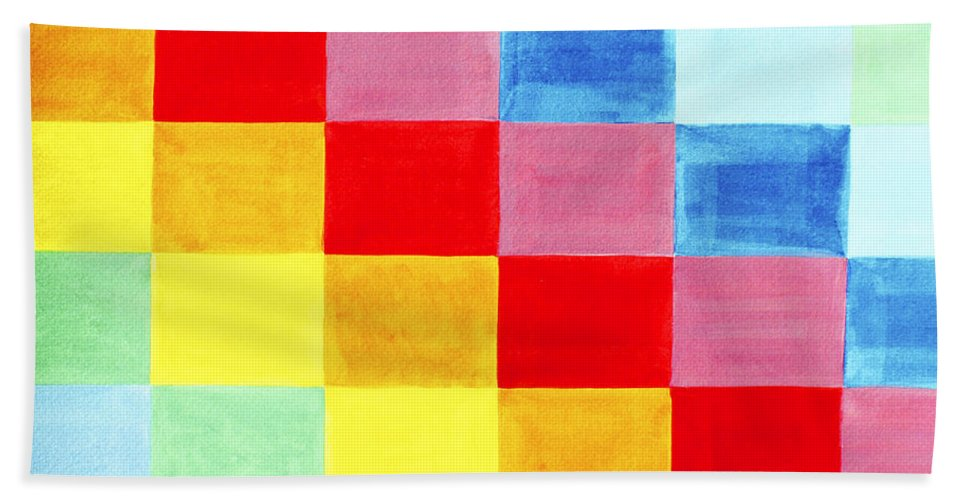 Abstract Bath Sheet featuring the painting Color Flag by Lee Serenethos