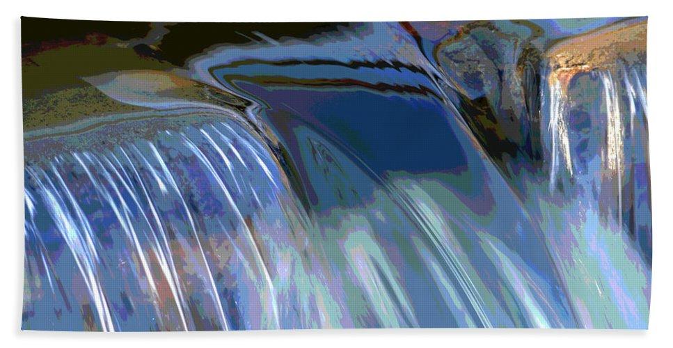 Winter Bath Sheet featuring the photograph Color Flow by Dianne Cowen