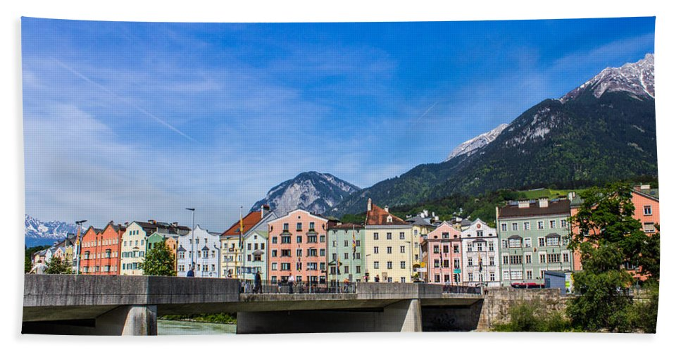 Austria Hand Towel featuring the photograph Color In Innsbruck by Lisa Lemmons-Powers