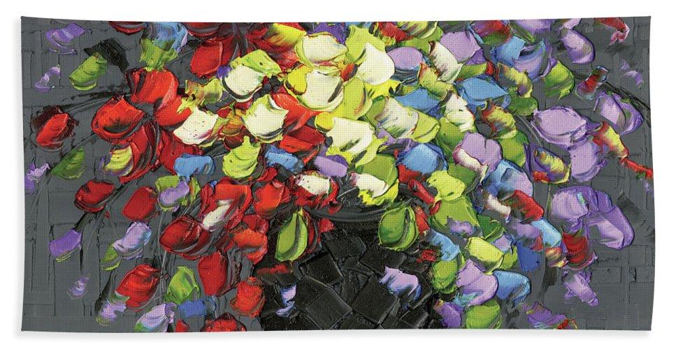 Bath Sheet featuring the photograph Color Me Happy by Susanna Shaposhnikova