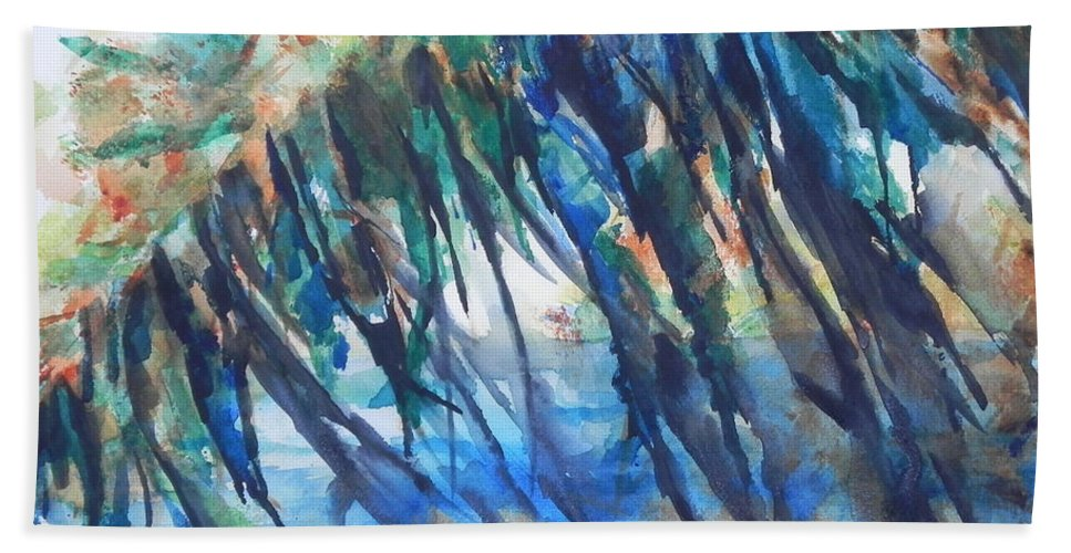Fine Art Painting Bath Sheet featuring the painting Color My World by Chrisann Ellis