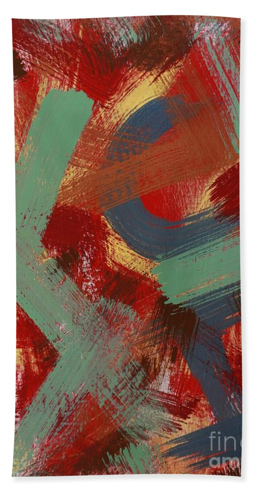 Acrylic Bath Sheet featuring the painting Color # 1-30 by Robert Dixon