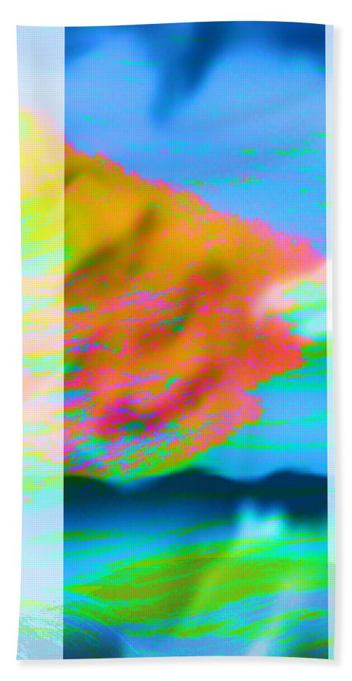 Color Bath Sheet featuring the digital art Color Wave by Are Lund