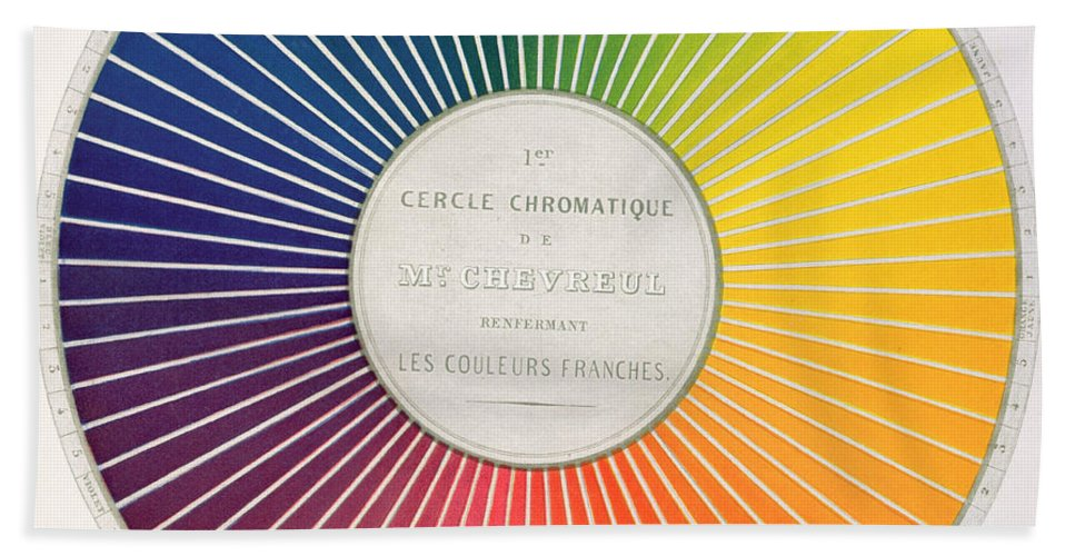 Color Wheel Hand Towel For Sale By French School