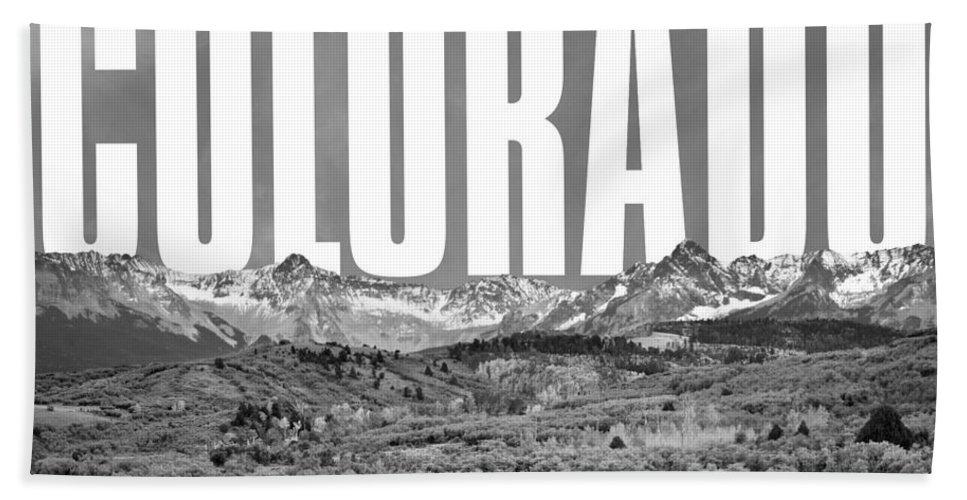 Colorado Cityscape Bath Sheet featuring the digital art Colorado Cityscape by David Richardson