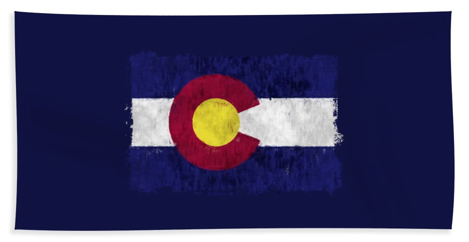 Colorado Hand Towel featuring the digital art Colorado Flag by World Art Prints And Designs