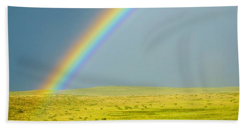 Colorado Hand Towel featuring the photograph Colorado Rainbow by Marilyn Hunt