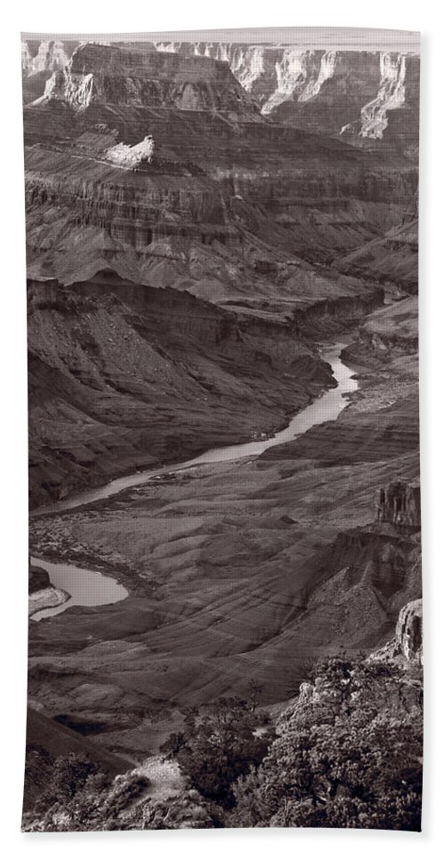 Canyon Hand Towel featuring the photograph Colorado River At Desert View Grand Canyon by Steve Gadomski