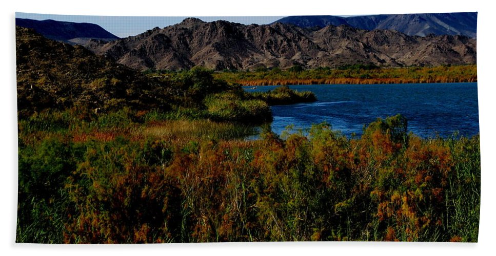 Patzer Bath Towel featuring the photograph Colorado River by Greg Patzer