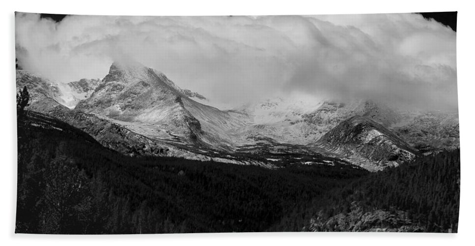 Colorado.b&w Hand Towel featuring the photograph Colorado Rocky Mountains Continental Divide by James BO Insogna