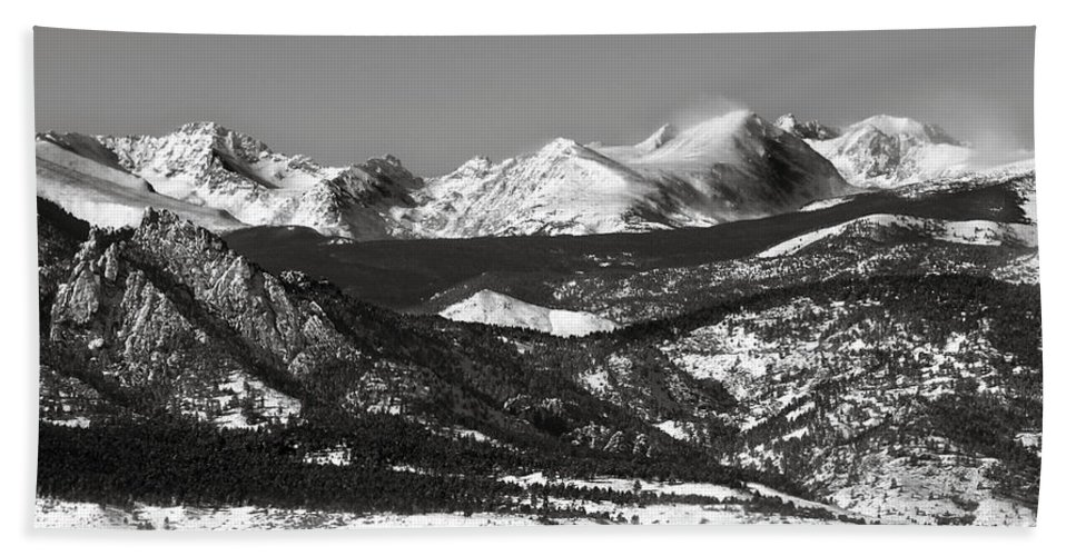 Americana Hand Towel featuring the photograph Colorado Rocky Mountains by Marilyn Hunt