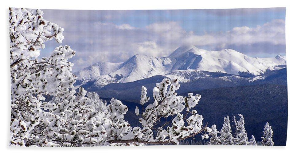 Mountains Hand Towel featuring the photograph Colorado Sawatch Mountain Range by Carol Milisen