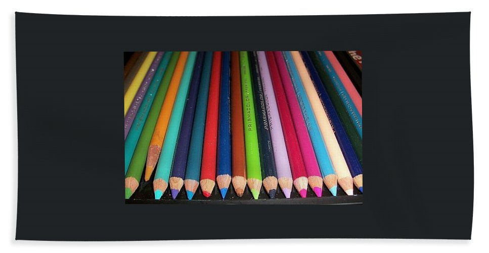Pencils Bath Sheet featuring the photograph Colored Pencils by Norma Jean Lipert