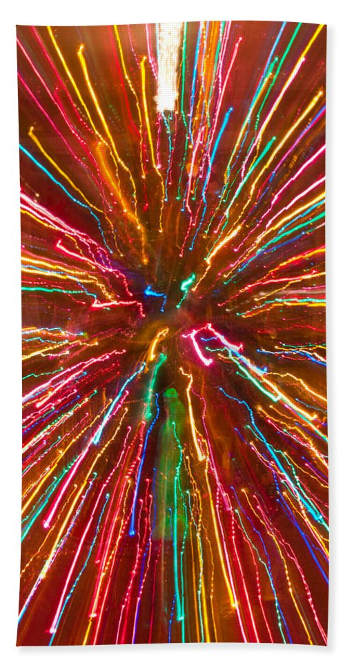 Abstracts Hand Towel featuring the photograph Colorful Abstract Photography by James BO Insogna