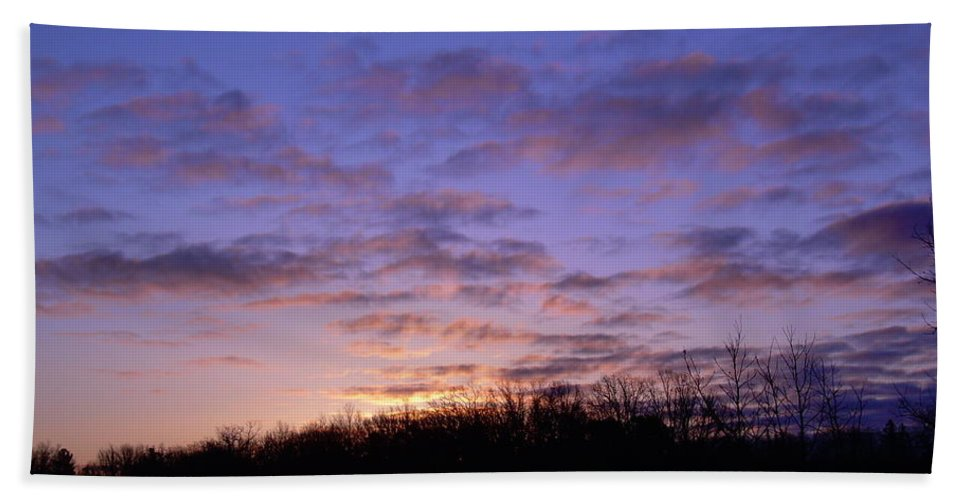 Clouds Hand Towel featuring the photograph Colorful Clouds In The Sky by Kent Lorentzen
