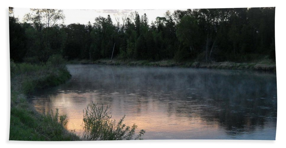 Fog Bath Sheet featuring the photograph Colorful Dawn Reflections by Kent Lorentzen
