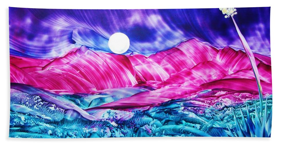 Bold Hand Towel featuring the print Colorful Desert by Melinda Etzold