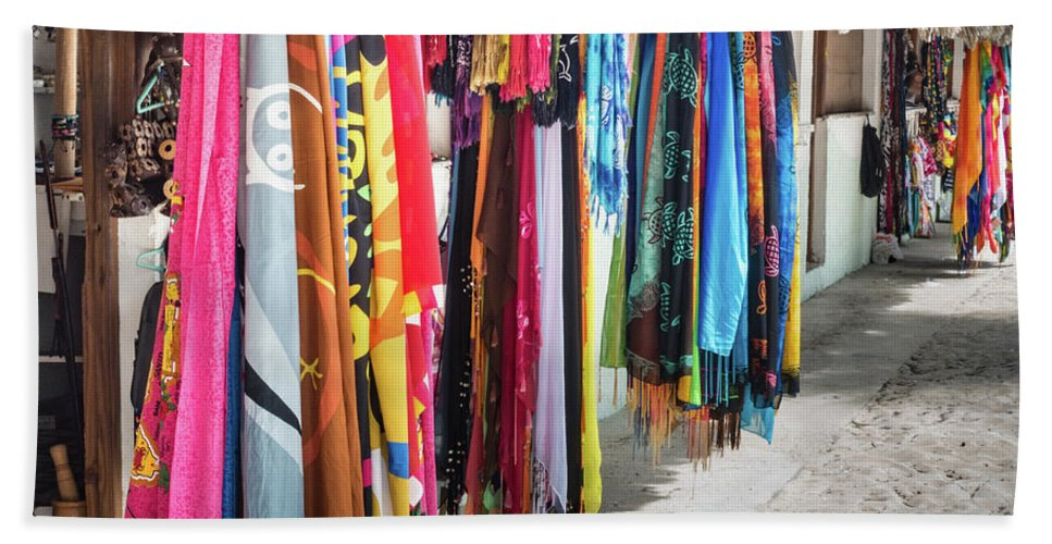 Architecture Hand Towel featuring the photograph Colorful Dominican Garments by David A Litman