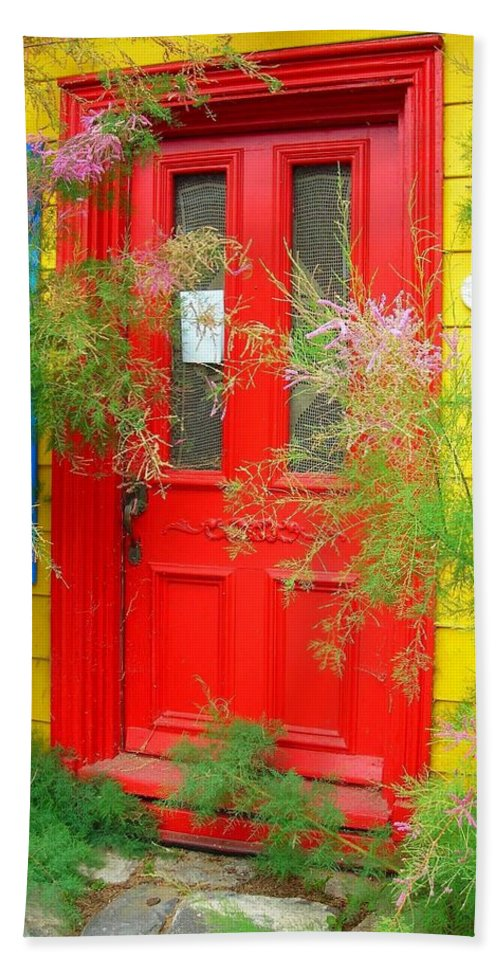 Color Hand Towel featuring the photograph Colorful Entrance ... by Juergen Weiss