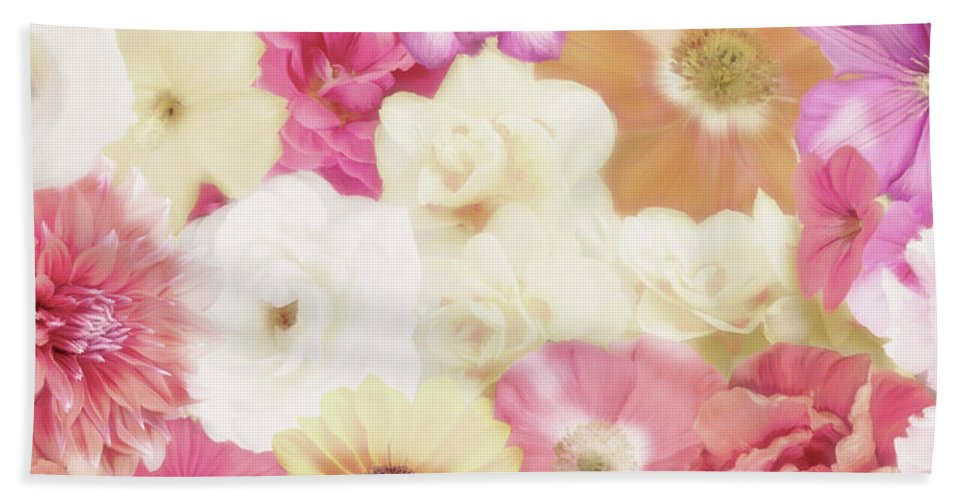 Flower Hand Towel featuring the digital art Colorful Floral Background by Svetlana Foote
