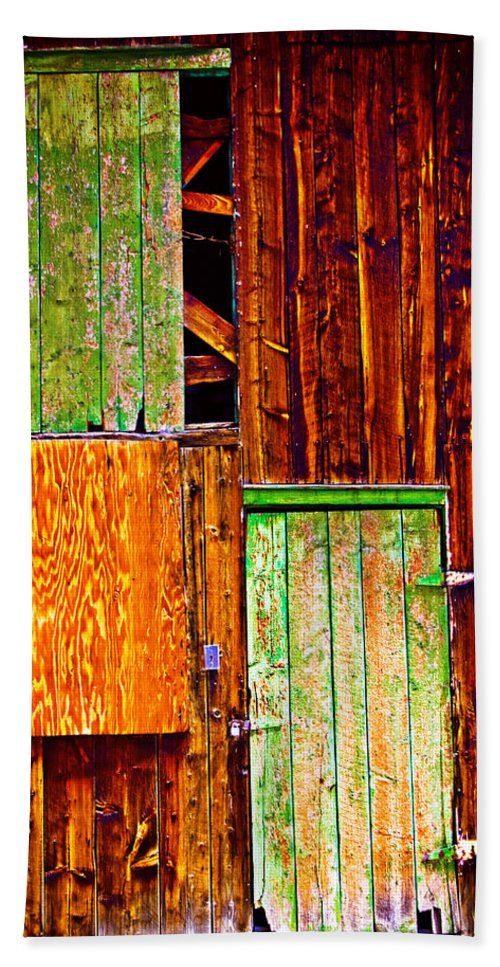 Old Hand Towel featuring the photograph Colorful Old Barn Wood by James BO Insogna