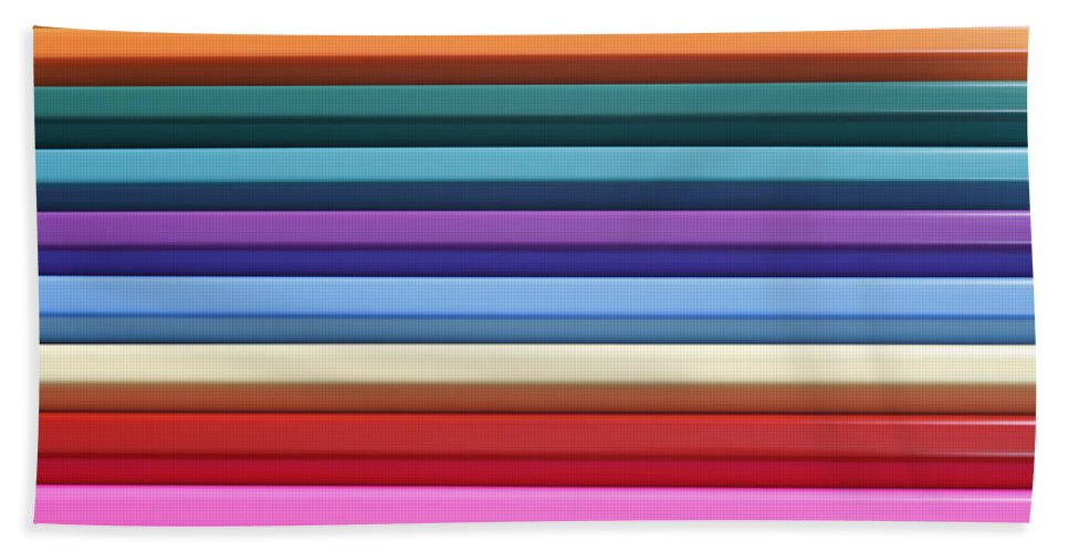 Pencils Bath Sheet featuring the photograph Colorful Stripes 4 by Kevin Round