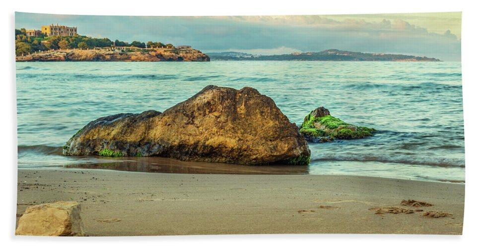 Landscape Bath Sheet featuring the photograph Colorful Sunset by Cucu Mihai