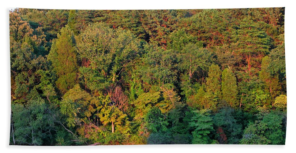 Landscape Bath Towel featuring the photograph Colorful Sunset by Todd A Blanchard