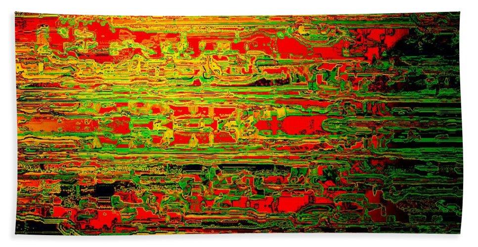 Colorisentenz Bath Sheet featuring the digital art Colorisentences by Helmut Rottler