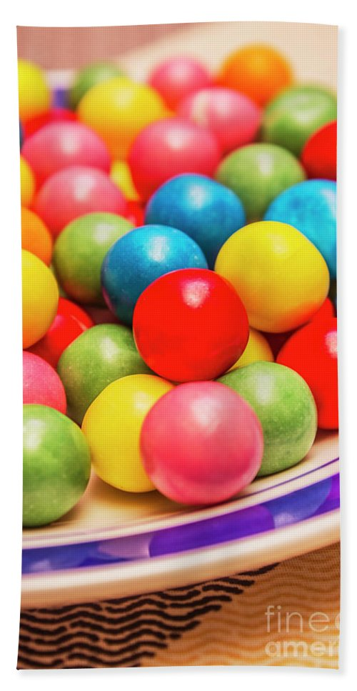 Candy Bath Towel featuring the photograph Colourful Bubblegum Candy Balls by Jorgo Photography - Wall Art Gallery