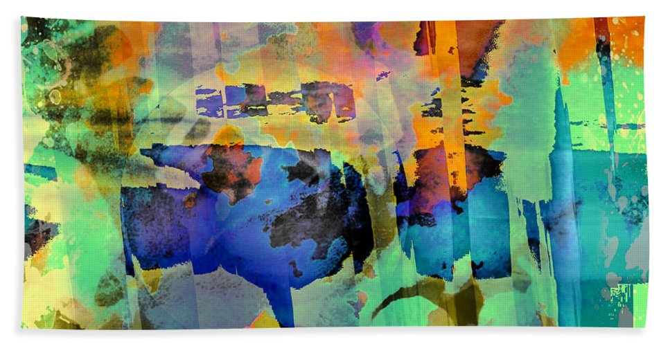 Fine Art Bath Sheet featuring the digital art Colours by Contemporary Art