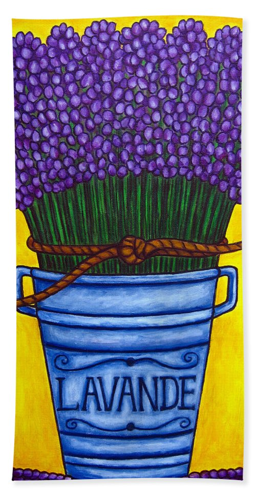 Antique Bath Towel featuring the painting Colours Of Provence by Lisa Lorenz