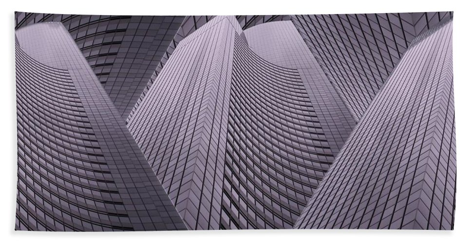 Seattle Hand Towel featuring the digital art Columbia Tower Seattle Wa 2 by Tim Allen