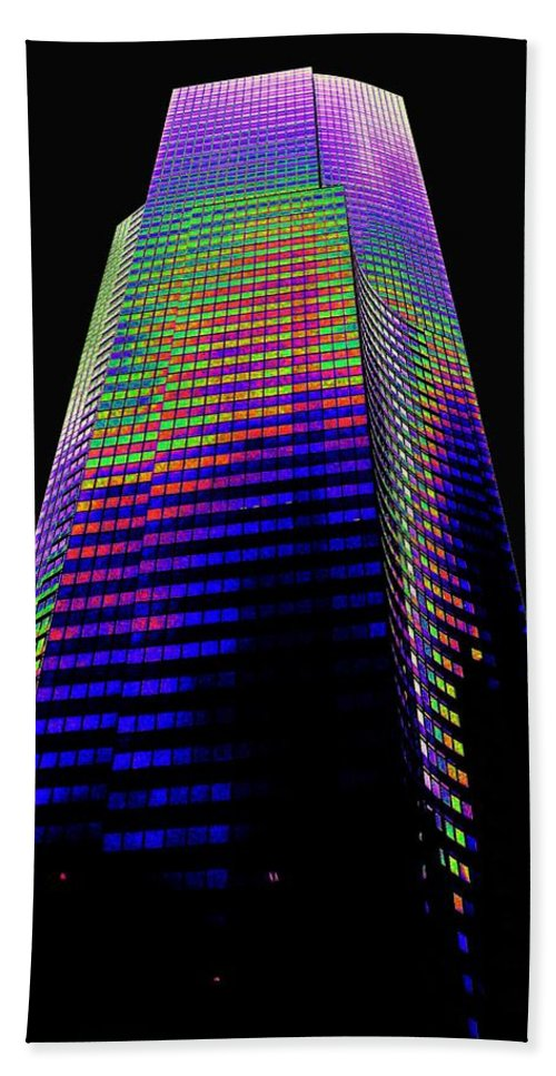 Seattle Hand Towel featuring the photograph Columbia Tower Seattle Wa by Tim Allen