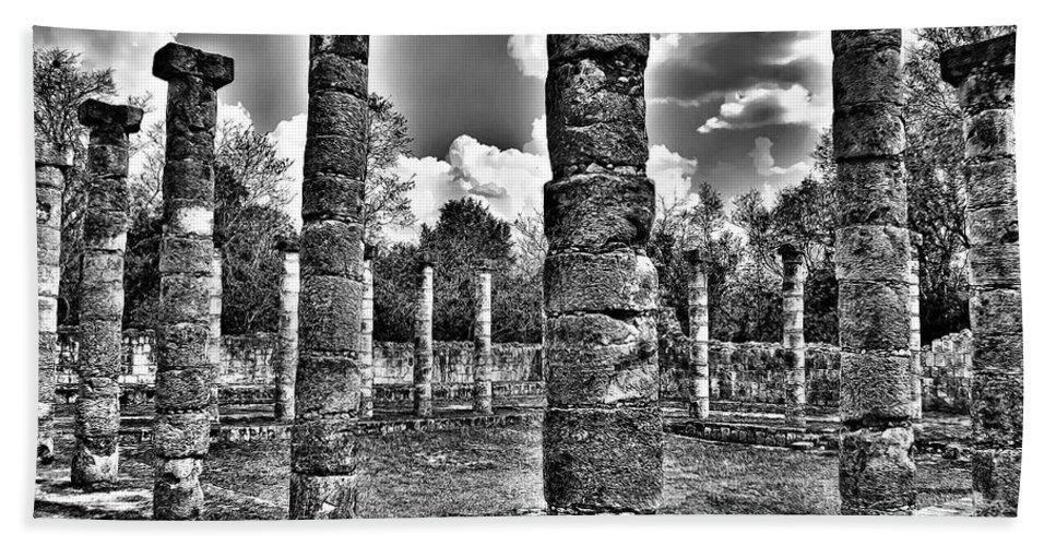 Pillars Bath Sheet featuring the photograph Columns Of Support by Douglas Barnard