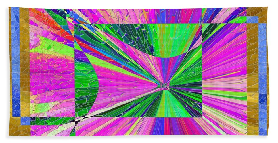 Abstract Bath Sheet featuring the digital art Come Fly Away by Tim Allen