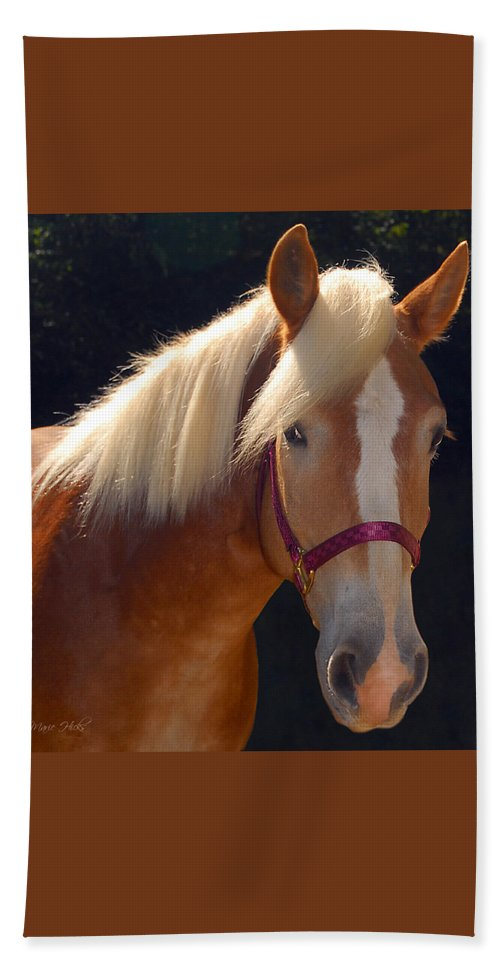 Haflinger Bath Sheet featuring the photograph Come Play With Me by Marie Hicks
