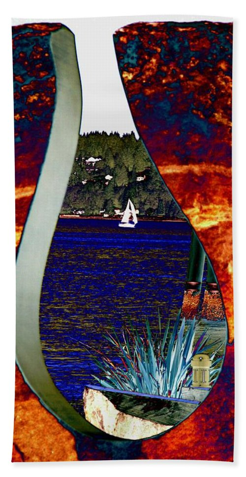 Bremerton Hand Towel featuring the photograph Come Sail Away by Tim Allen