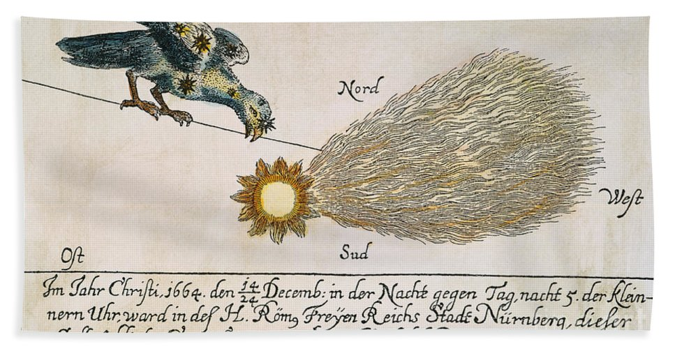 1664 Hand Towel featuring the photograph Comet, 1664 by Granger