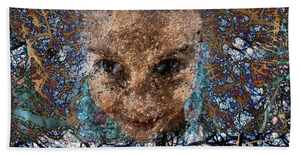 Digital Hand Towel featuring the digital art Coming Out by Ioulia Sotiriou